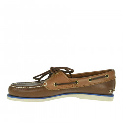 BROWN MOCASSINO IN LEATHER