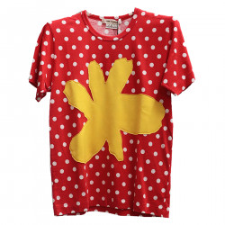 RED POLKA DOTS T SHIRT
