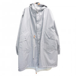 CHECKED COAT WITH HOOD