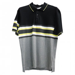 BLACK AND GREY POLO