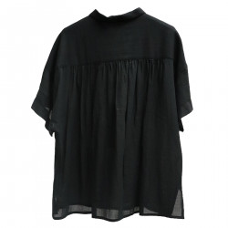BLACK COTTON SHIRT