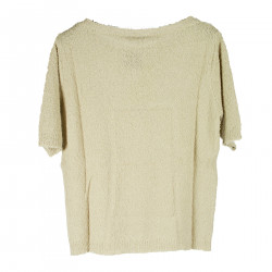 BEIGE SWEATER IN COTTON