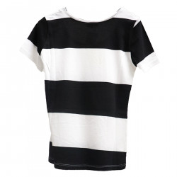 STRIPED WHITE AND BLACK T SHIRT