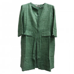 GREEN COAT WITH FRINGES