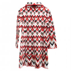MULTICOLOR ZIGZAG COAT