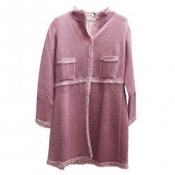 PINK LUREX COAT