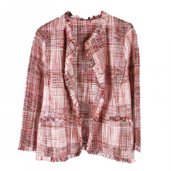 PINK CHECKED JACKET