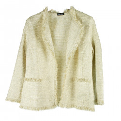 BEIGE JACKET WITH FRINGES
