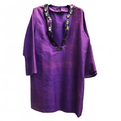 VIOLET DRESS WITH STONES