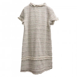 BEIGE DRESS WITH FRINGES