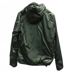 GREEN AND ANIMAL REVERSIBLE DOWN JACKET