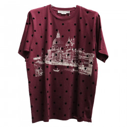 POLKA DOTS BORDEAUX T SHIRT
