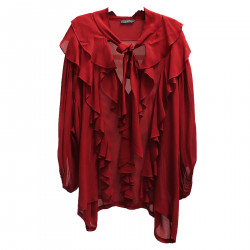 RED BLUSA WITH BALZE