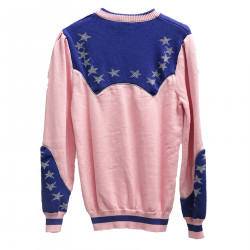 PINK AND BLUE PULLOVER WITH STARS