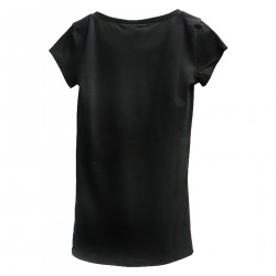 BLACK T SHIRT WITH PATCH