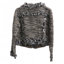 MULTICOLOR JACKET WITH FRINGES