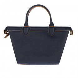 BLUE BAG IN LEATHER