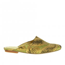 GOLD SABOT SANDAL WITH STONES