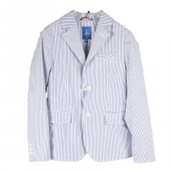 STRIPED WHITE AND BLUE JACKET