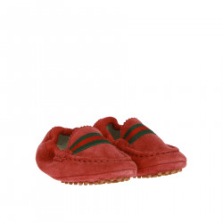 RED SUEDE LOAFER