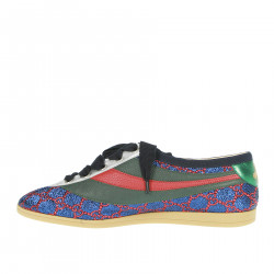 BLUE GREEN AND RED SNEAKER