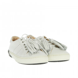 WHITE SNEAKER WITH FRINGES
