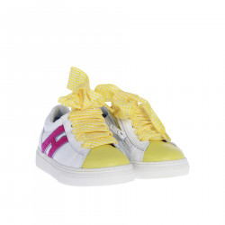 WHITE AND YELLOW SNEAKER