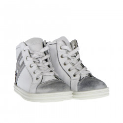 WHITE AND GREY SNEAKER WITH GLITTER