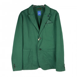 GREEN JACKET IN COTTON