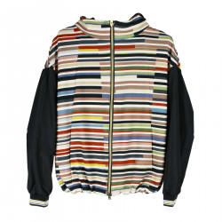 MULTICOLOR JACKET WITH HOOD