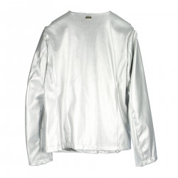 SILVER JACKET IN FAUX LEATHER
