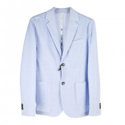 LIGHT BLUE JACKET IN COTTON