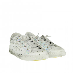 WHITE SNEAKER WITH GLITTER