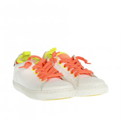 WHITE AND ORANGE FLUO SNEAKER