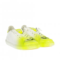 WHITE AND GREEN FLUO SNEAKER