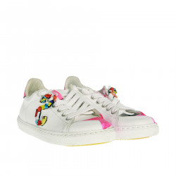 WHITE AND PINK FLUO SNEAKER