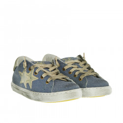 LIGHT BLUE LUREX SNEAKER