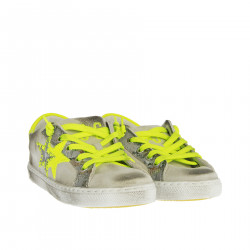 GREY AND YELLOW GREEN SNEAKER