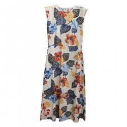 BEIGE DRESS WITH FLOWER FANTASY