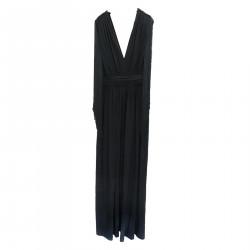 LONG BLACK DRESS WHIT FRINGES