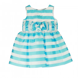 STRIPED LIGHT BLUE DRESS