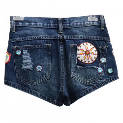 DENIM SHORTS WITH BEADS