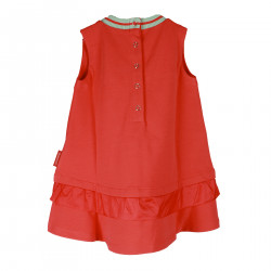 CORAL DRESS WITH WRITING