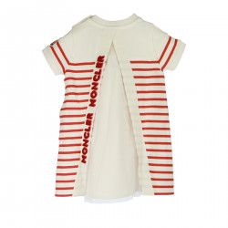 STRIPED WHITE AND RED DRESS
