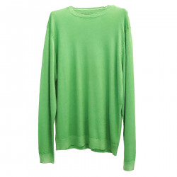 GREEN CASHMERE PULLOVER