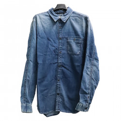 CAMICIA IN DENIM CON TASCHINO