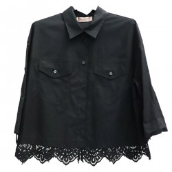BLACK SHIRT WITH LACE