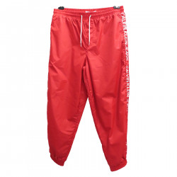 RED PANTS WITH SIDE LOGO