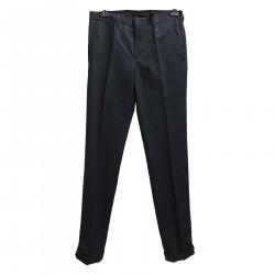 BLACK LINEN AND COTTON PANTS
