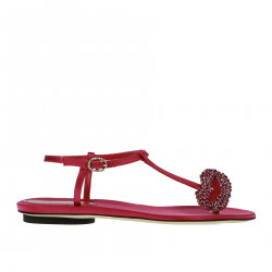 PINK SANDAL WITH STRASS